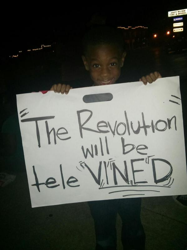 From the signs/mouths of Babes RT @emilyBOOMBOOM: #ferguson http://t.co/PDrBz0NULE