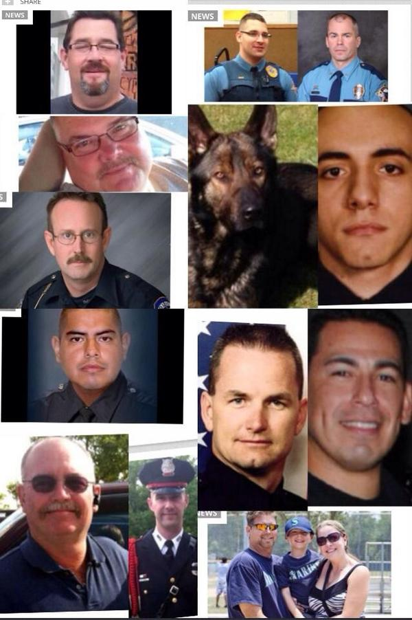 """@KLSouth: RT @DgailB: Faces of a few officers killed over the last few weeks during routine stops. http://t.co/7O2GOWFW72"""