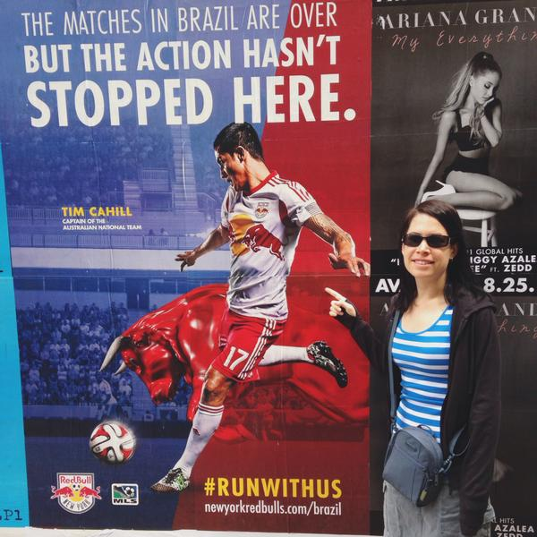 Natalie bumping into @Tim_Cahill in NYC! #BigTrip2014 #footballcouple @NatalieTosh http://t.co/MnO7nniwQ5