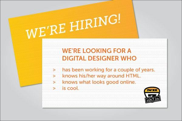 Job opening @NH7 for a digital designer. Interested? Email jobs at oml dot in. This is a full-time position. (Do RT) http://t.co/Mzbdqy5xUW