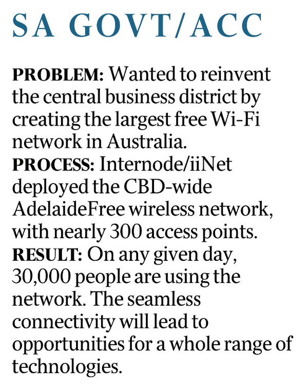 Great to see The Australian reporting on #Adelaide's world class Wi-Fi network http://t.co/8hc1cNKgTc