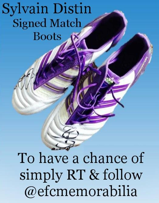 #Win pair of signed @sylvaind15tin match boots 2 have a chance simply follow @efcmemorabilia & RT #sos1878 #EVERTON http://t.co/k1O0DdVGQh