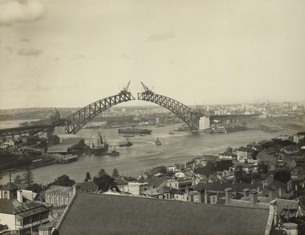 #OnThisDay in 1930 the two halves of the Sydney Harbour Bridge were joined at 10pm. http://t.co/px4JKIORoP http://t.co/TrGyBcv4JQ