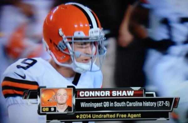"""""""@gogamecocks: Connor Shaw's time. http://t.co/5NxEtwaHYq"""""""
