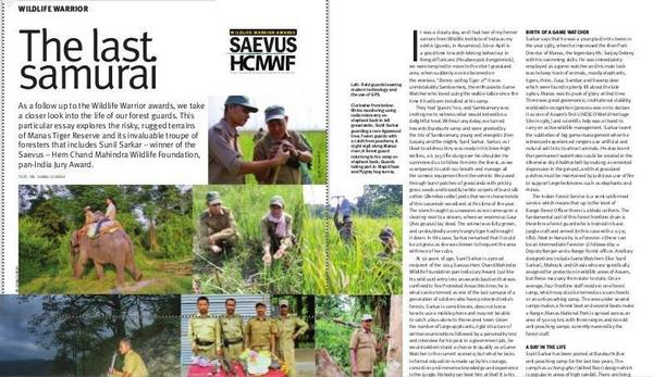Must read. Article on frontline forest staff in Saevus from one who leads them from the front. Thanks, Sonali Ghosh http://t.co/Nq04YkHjHG
