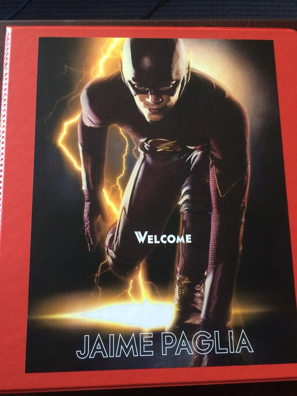 First day of prep for #TheFlash ep. 6 with director Millicent Shelton. Fantastic crew. Nice welcome binder. http://t.co/eQIG4tkv1d