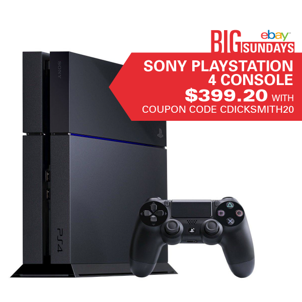 Get gaming! PS4 just $399.20 with coupon code CDICKSMITH20 >> http://t.co/HjPZ6n0dhV http://t.co/0gN9qNxsHG