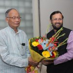 RT @MIB_India: CM of Manipur Shri Okram Ibobi Singh calling on MoS (IC) Information & Broadcasting @PrakashJavdekar . http://t.co/MvJv7Os2hw