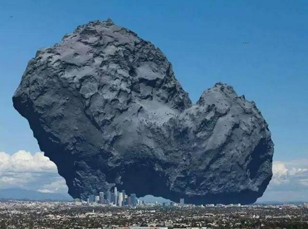 .@billt! RT @luckytran: Just how big is @ESA_Rosetta's comet 67P? Well, it certainly dwarves the city of Los Angeles! http://t.co/F9cqYLW47C