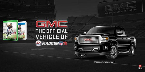 Follow @ThisisGMC & RT for your to chance to win 1 of 15 copies of @EASPORTS #Madden15. Rules: http://t.co/dGAwaOvBIu http://t.co/Vk2D0Wm67n