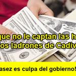 RT @saveriovivas: ¿Por que no le captan las huellas a los ladrones de Cadivi? ¡La escasez es culpa del gobierno! ¡No al #papahuella! http://t.co/g1wqU44npX