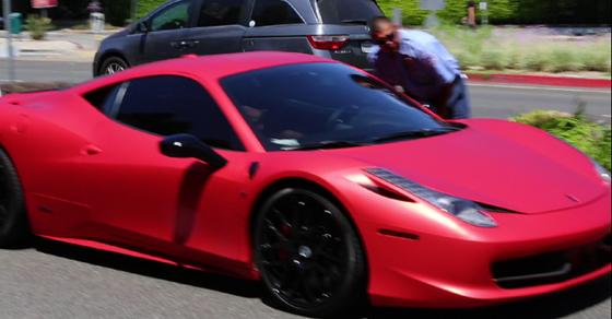 here's @justinbieber in his Ferrari moments after a paparazzo rammed into him today #beliebers http://t.co/4uG1vr894H http://t.co/7nX0uAxPE3