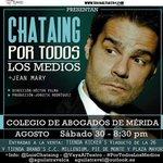 RT @AguilaTravelCA Luis Chataing en #Merida #PorTodosLosMedios Este #Sabado 30 de Agosto Invita >> @luischataing http://t.co/9t7lizpTQV