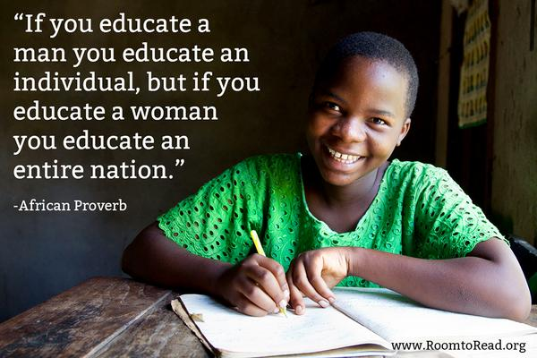 """""""If you educate a woman, you educate an entire nation."""" Happy #WomensEqualityDay http://t.co/BMg9VEM9Ya"""