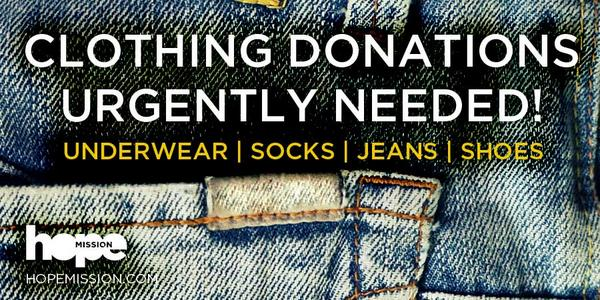 Our guests urgently need donations of underwear, socks, jeans, shoes ... http://t.co/VAGh5NPwTv Please Retweet! http://t.co/MPUdw1lCUr