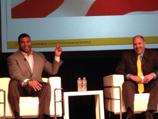 Thank you @shawnemerriman for sharing your passion for #solar and renewable energy. #SolarWorldSummit2014 http://t.co/ArmhUbGAqC