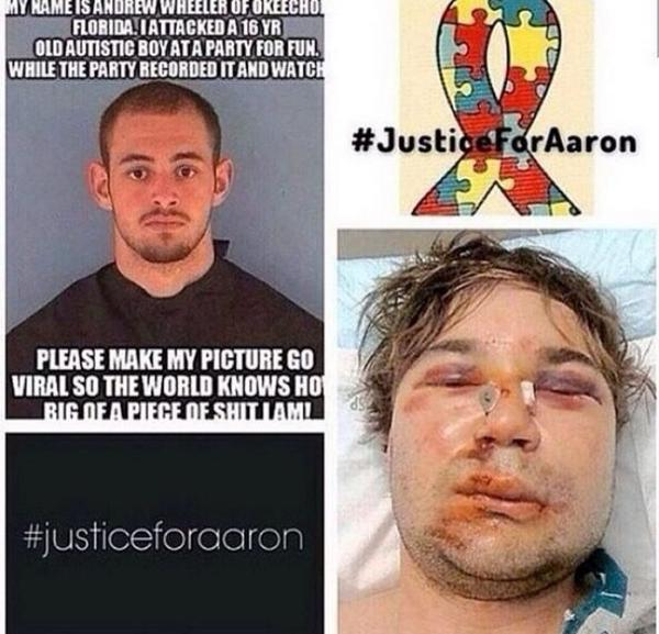 There is a word for this type of person and that word is...shitbag. Yes, one word, not two... #JusticeForAaron http://t.co/A8AoqZ5E3E