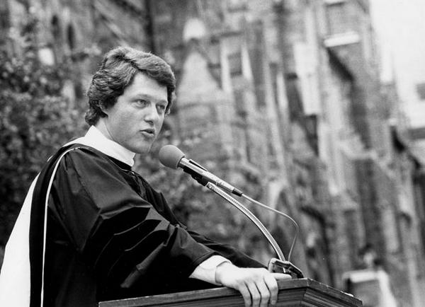 Happy Birthday to Georgetown alumnus President @billclinton (F'68)! Here he is at Commencement in 1980. #HoyaSaxa http://t.co/6J6P764VcN