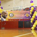 RT @Lakers: Head coach Byron Scott is in Compton today to announce his participation as a mentor in Centennial HS's Male Academy. http://t.co/BwaVh1NSjQ