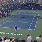 RT @bhallwfmy: John Isner and Bradley Klahn warming up at @WSOpen .....@WFMY #wfmysports http://t.co/6KSTC43J2v