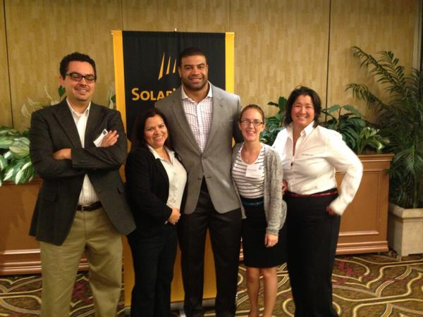 .@CleanPwrFinance team with @shawnemerriman at the #SolarWorldSummit2014 http://t.co/pK8WcezkDX