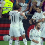 GOAL! Real Madrid 1 - 0 Atletico Madrid. James Rodriguez gets his first goal for his new club: http://t.co/wy5HujtsKN