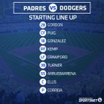 Here's your #Dodgers lineup for tonight's game against the #Padres at Dodger Stadium. http://t.co/q1scptb0T9
