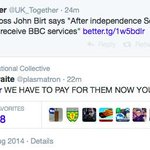 RT @Radgecase: You can see why UKOK deleted that tweet. #indyref http://t.co/rkGaXNqZ5m