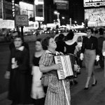RT @TimesSquareNYC: RT @NewYorkologist Accordion Player in Times Square, New York City, 1953 - Credit: Edouard Boubat | #NYC #NY http://t.co/p0p45X14Oe