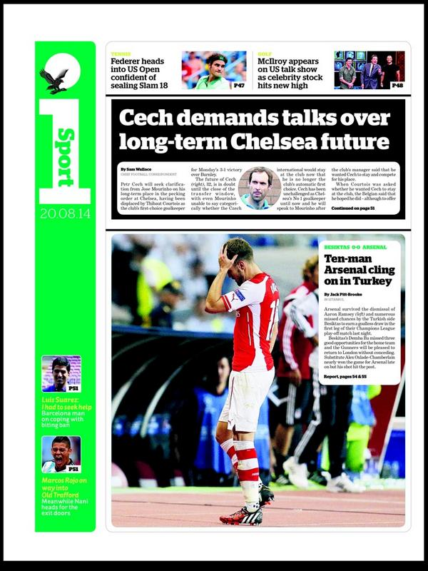 BvbvLyVIQAAmi1G Petr Cech may leave Chelsea after silent snub from Jose Mourinho [Mirror]