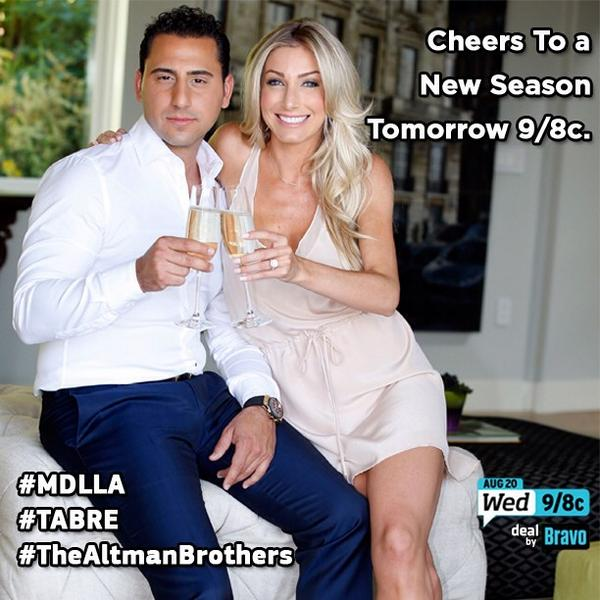 Cheers to a new season of #MDLLA! Tune in tomorrow 9/8C on @bravotv! @thejoshaltman @themattaltman #RealEstate http://t.co/ehY5bi9EVm