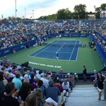 RT @bhallwfmy: Great crowd on Center Court for Isner vs. Klahn @WSOpen ....@WFMY http://t.co/syoDJEgA4r