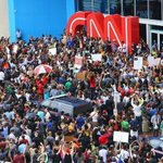 RT @THESOURCE: So, is @CNN gonna report this or nah? Protestors gather outside CNN in Atlanta. #JusticeForMikeBrown #Ferguson http://t.co/adApNuNp0n