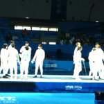The mixed continental team gold medal bout in #YOGfencing is about to start! #nanjing2014 @youtholympics http://t.co/kbNrGpHNXI