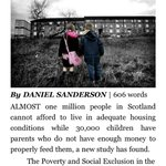 RT @NaeFear: RU aware @TogetherDarling, Herald reports 1 m Scots in poverty? R they better together? #indyref http://t.co/RQYDwWsEii