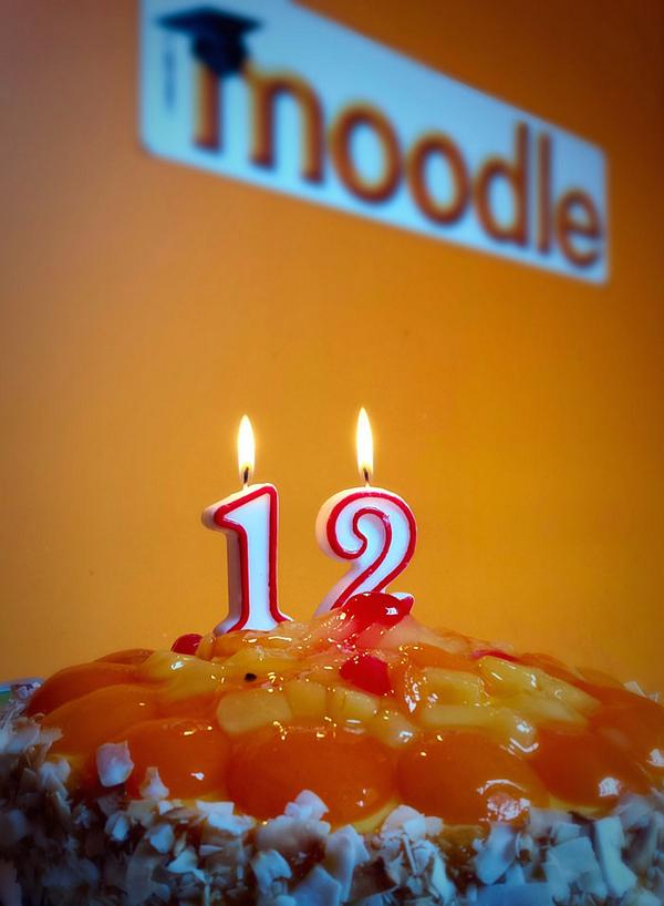 Happy 12th birthday to #Moodle and the whole Moodle community! xxx http://t.co/1hqb9a5Go5
