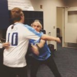 Michael relies on Luke to catch him, whos already ready Luke tightens the hug Michael has his eyes closed #vote5sos http://t.co/svOwDfViuf