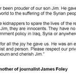 "RT @BBCWorld: ""We have never been prouder"" - mothers tribute to journalist James Foley http://t.co/xcbwEd6WNg & http://t.co/abXAo9dVpj"