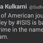 RT @mediacrooks: Dear Misunderstander of Islam.. @SudheenKulkarni The crime is against person/people.. NOT Islam.. #Moron http://t.co/oLypx8NQ4j
