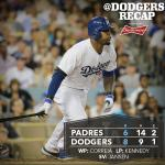 RT @Dodgers: Carl Crawford homers and scores three times as #Dodgers down Padres. Recap: http://t.co/ofPYScIKte http://t.co/4y2DSyfCke