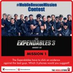 RT @themobilestores: #MobileRescueMission #Contest - Mission 1 Answer in different tweets & you can win #TheExpendables3 movie vouchers. http://t.co/ISJPBVinVb