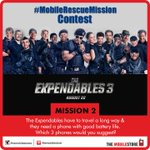 RT @themobilestores: #MobileRescueMission #Contest - Mission 2 Answer in different tweets & you can win #TheExpendables3 movie vouchers. http://t.co/qAiSN1GS3n