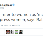RT @nanditathhakur: How does Rahul addresses women ?? Especially Sonia and Priyanka ??? http://t.co/eTi9rlp3Qb