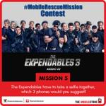 #MobileRescueMission #Contest - Mission 5 Answer in different tweets & you can win #TheExpendables3 movie vouchers. http://t.co/4ecSsAEvYv