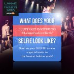 RT @LakmeFashionWk: Here's your chance to win exclusive invites to #lakmefashionweek 2014. Have you sent us your excited selfie ? http://t.co/BN2sfBK6Xa