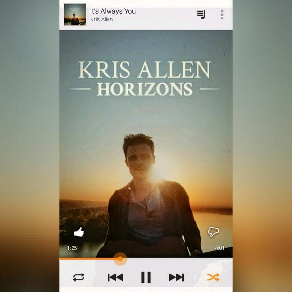 "Listened ""It's Always You"" by @KrisAllen 'bout 23 times. Such a great song! So glad it's on the new album! #Horizons http://t.co/ky9eG3KdaT"