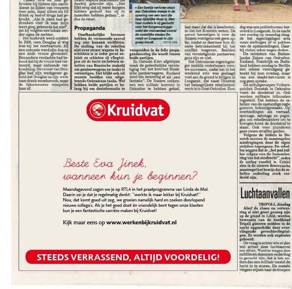 LOL RT @vanaanholt: Geweldige advertentie #kruidvat http://t.co/0Yk2prITeK #Recruitment