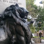 #HamOnt pride. A lion keeps watch at Gore Park. #HamOnt http://t.co/OIbAkG6i8P http://t.co/ichafver1m