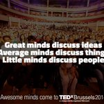 Great minds talk about ideas and awesome minds come to #TEDxBrussels 2014! http://t.co/pKg3d54SWg #brussels http://t.co/OmNtqliMAU