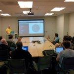 @aranasaurus @FowlerCourt @hosj presenting how @EsriPDXs #golang GeoBin project works! http://t.co/XnnKLc4Tqm